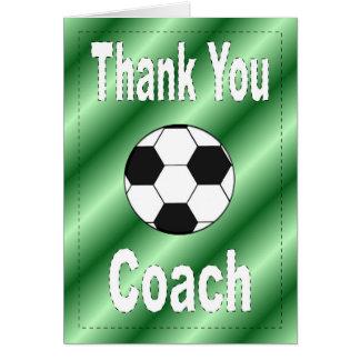 Danke Fußball-Trainer-Karte Karte