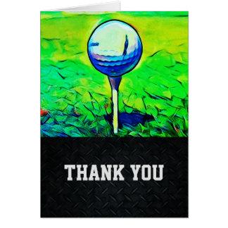 Danke Golf spielende die Anmerkungs-Karte der Karte