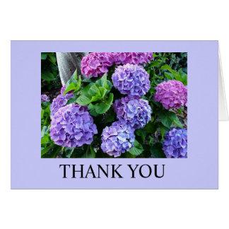 Danke - Hydrengeas Grußkarte