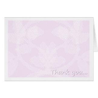 danke im Rosa Grußkarte
