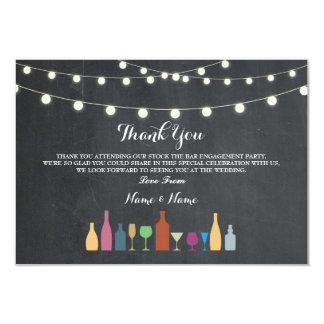 Danke kardiert Vorrat, den das Bar Getränk-Kreide Karte