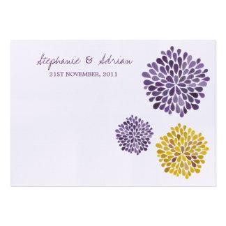 Danke kardiert Watercolor-Dahlie-Blumen Visitenkartenvorlagen