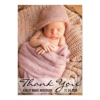 Danke moderne Baby-Geburts-Foto-Karte 12,7 X 17,8 Cm Einladungskarte
