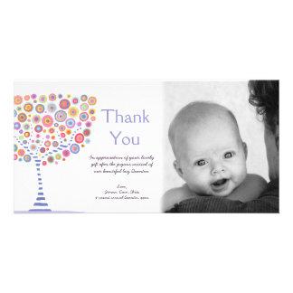 Danke neue Baby-Ankunfts-Geschenk-Fotokarte Fotokarte