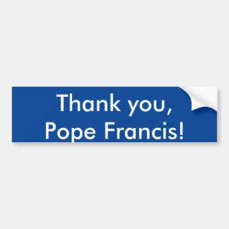 Danke, Papst Francis! Autoaufkleber