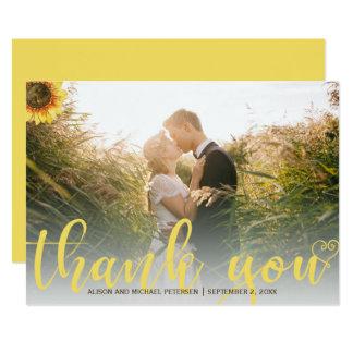 Danke rustikales Hochzeits-Foto der Sonnenblume 12,7 X 17,8 Cm Einladungskarte