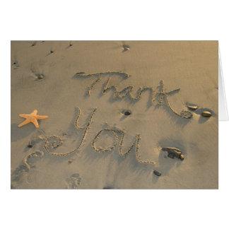 Danke, - Starfish zu merken Mitteilungskarte
