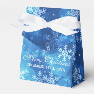 Danke Weihnachtsfeiertags-Schein-Blau Geschenkschachtel