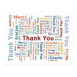 Danke, Wolke in 5 Sprachen abzufassen Postkarte