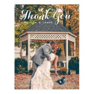 Danke wunderliches Hochzeits-Foto Postkarten