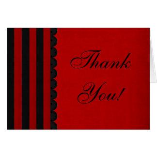 Danke zu kardieren: Launische Streifen-Sammlung Grußkarte