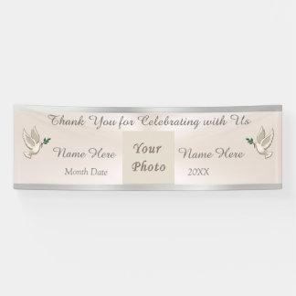 Danken Ihnen erröten die Fahnen-Hochzeit, Banner