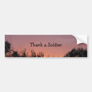 Danken Sie einem Soldaten Autoaufkleber