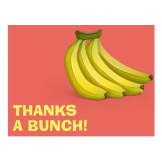 Dankt ein Bündel-Bananen lustige, die | Ihnen Postkarte