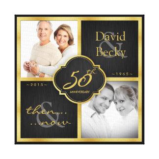 Dann und jetzt 50. Hochzeitstag 2015 Gespannter Galeriedruck