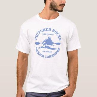 Dargestellte Felsen (rd) T-Shirt