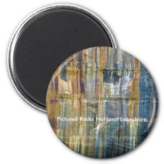 Dargestellter Felsen-Staatsangehöriger Lakeshore Runder Magnet 5,7 Cm