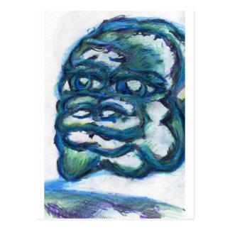 Dargestelltes Sinnesschwimmen Postkarte