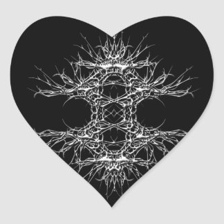 dark art Herz-Aufkleber
