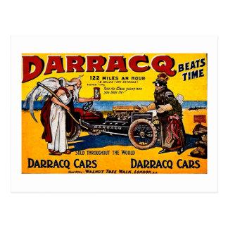 Darracq - Vintage Auto-Anzeige Postkarte
