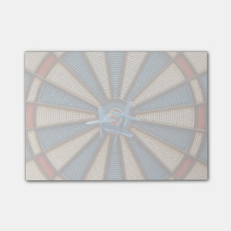 Dartboard-Bullauge Post-it Klebezettel