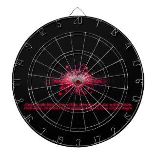 Dartboard Herz Pink und Schwarz Dartscheibe
