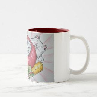Daruma des Glücks Zweifarbige Tasse