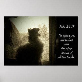 Das 34:17 LORDS Hören-Psalm Poster