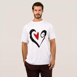 Das aktive T-Stück der schwarzen und roten T-Shirt