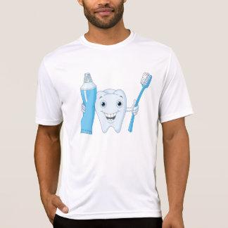 Das aktive T-Stück der Zahn-und Zahnbürste-Männer T-Shirt