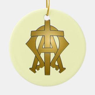 Das Alpha und das Omega Keramik Ornament