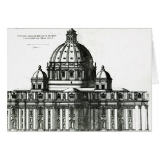 Das Äußere von St Peter Basilika in Rom Karte