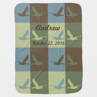 Das Baby-Decke des Jungen mit Fliegen-Enten-Muster Puckdecke