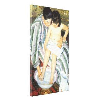 Das Bad des Kindes durch Vintagen Impressionismus Leinwanddruck