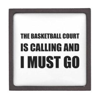 Das Basketballplatz-Nennen muss gehen Schmuckkiste