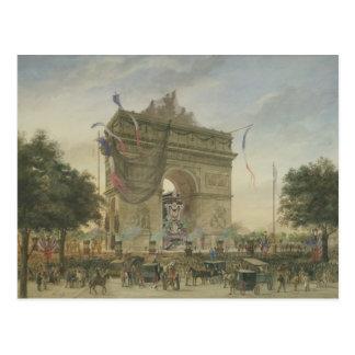 Das Begräbnis von Victor Hugo 1885 Postkarte