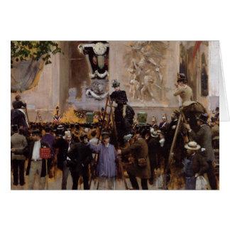 Das Begräbnis von Victor Hugo Karte