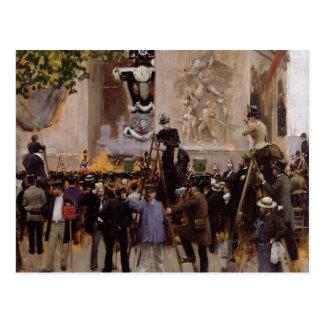 Das Begräbnis von Victor Hugo Postkarte
