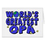 Das bestste Opa der Welt Grußkarte