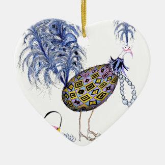 Das blauer Diamant-tolle Ei, tony fernandes Keramik Herz-Ornament