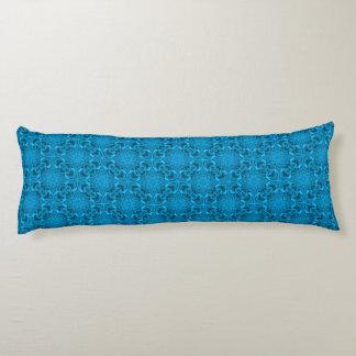 Das Blues-Kaleidoskop-Muster-Körper-Kissen Seitenschläferkissen