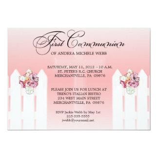 Das BlumenWeckglas-erste Kommunions-Einladung des 12,7 X 17,8 Cm Einladungskarte
