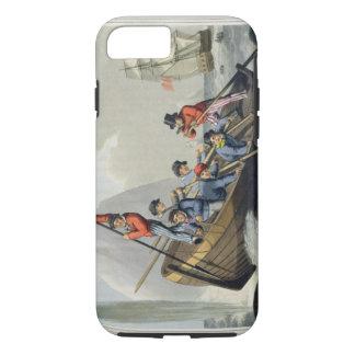 Das Boot eines Schiffs, das einen Wal, graviert iPhone 8/7 Hülle