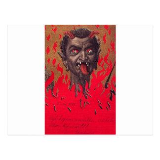 Das brennende Krampus Postkarten