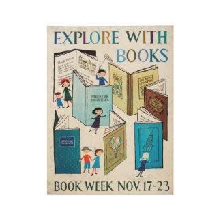 Das Buch-Wochen-Holz-Plakat 1957 Kinder Holzposter