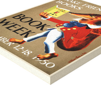 Das Buch-Wochen-Leinwand 1950 Kinder Leinwanddruck