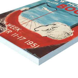 Das Buch-Wochen-Leinwand 1951 Kinder Leinwanddruck