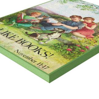 Das Buch-Wochen-Leinwand 1962 Kinder Leinwanddruck