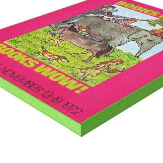 Das Buch-Wochen-Leinwand 1971 Kinder Leinwanddruck
