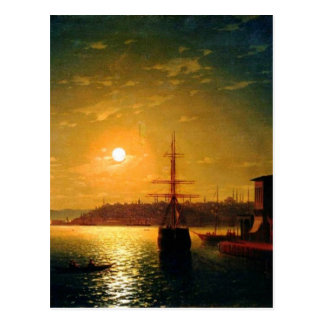 Das Bucht-goldene Horn durch Iwan Aivazovsky Postkarte